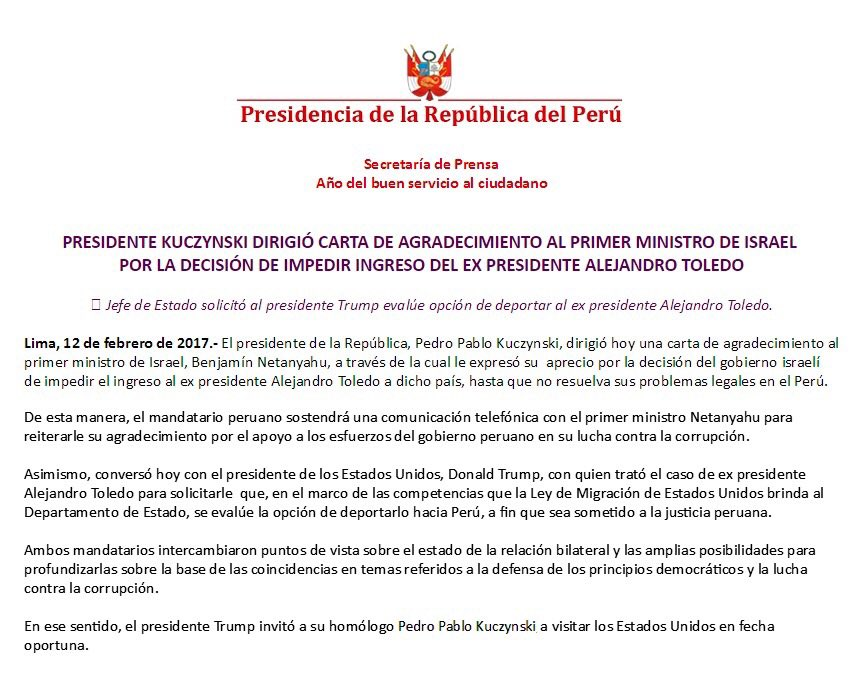 Post ppk le pidi a trump que eval e la posibilidad de for Logo del ministerio del interior peru