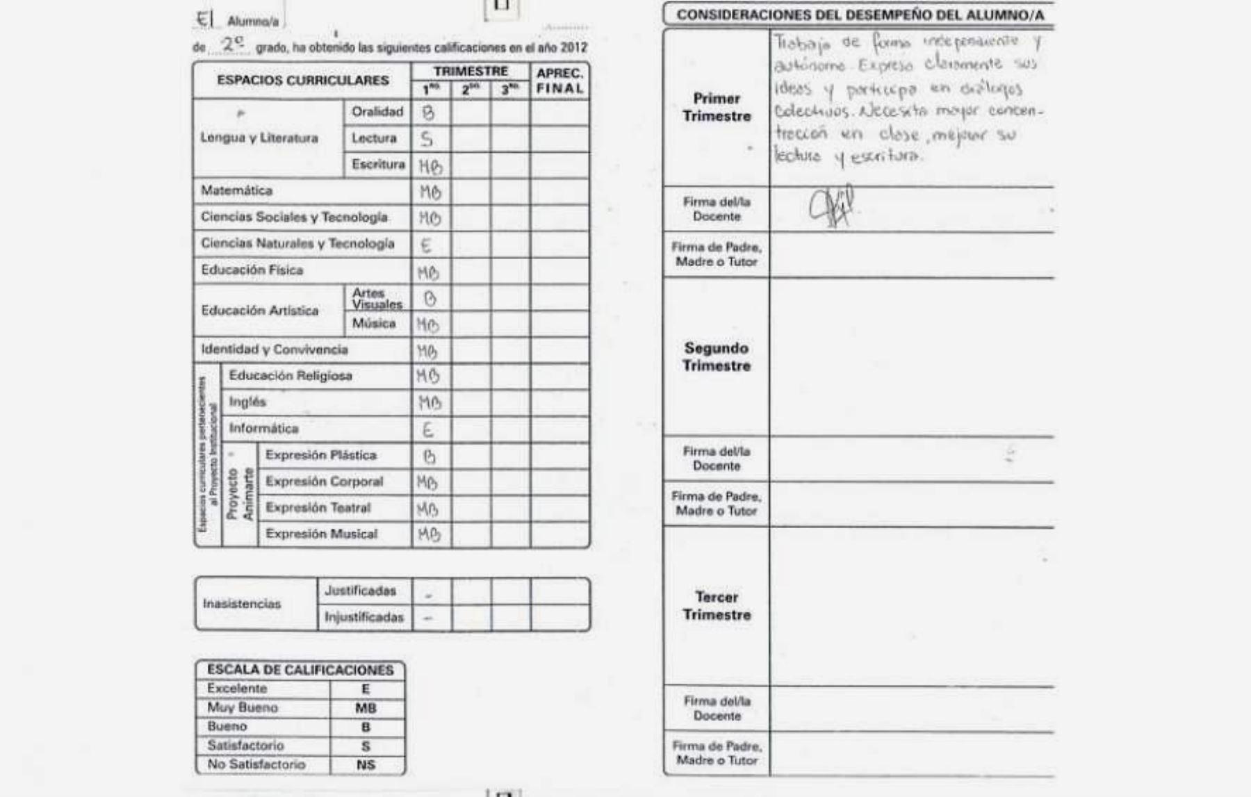 Post: No más notas en números ni en rojo en las libretas escolares ...